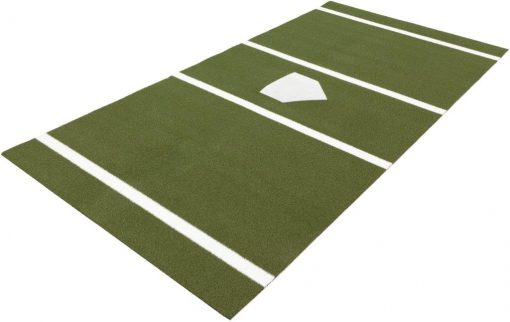 Stance mat with home plate Green
